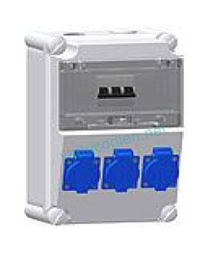 Tủ điện với MCB và ổ cắm IP44 615VTS